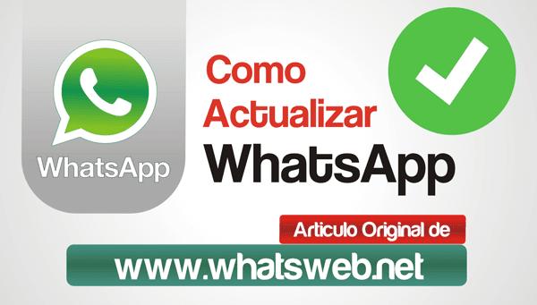 Como actualizar WhatsApp