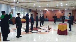 Walikota Prrobolinggo Lantik Pejabat Struktural