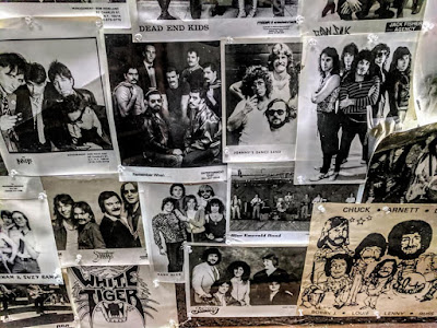 Inside wall of band photo's when it was Emmet's Inn in Jamesburg, New Jersey