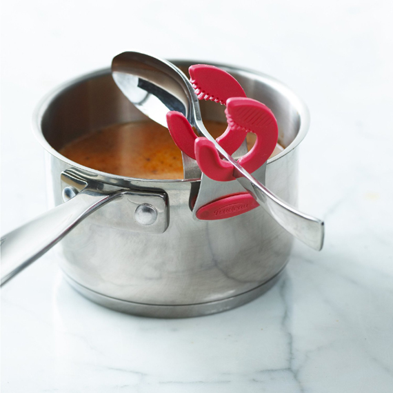 Spoon holder pot clip -  great stocking stuffer for people who like to cook