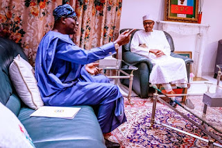Sanwo-Olu goes to Aso Rock, discusses Coronavirus in Lagos with Buhari