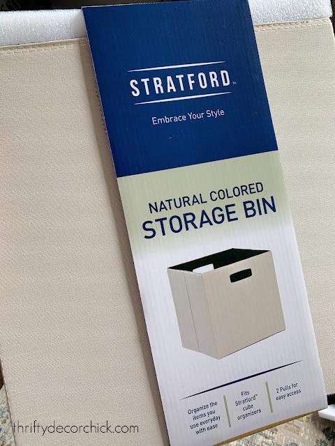 neutral large cubby bins