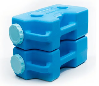 Aquabrick, water, containers