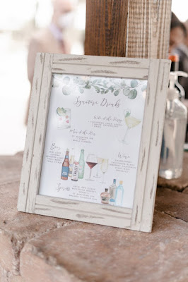 personalized wedding bar sign