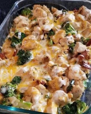Keto casserole -Broccoli & Chicken-