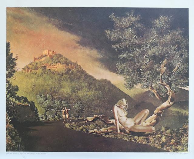 Van der Loo reproducción tela surrealista paisaje