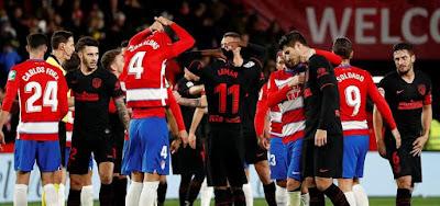Video Cuplikan Gol: Granada 1-1 Atletico Madrid (LaLiga)