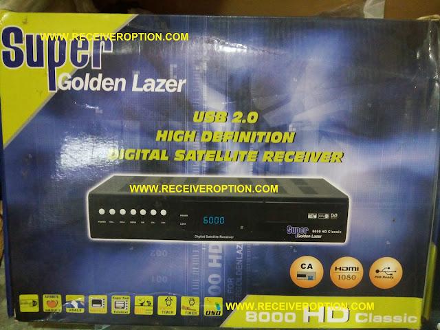 SUPER GOLDEN LAZER 8000 HD CLASSIC RECEIVER DUMP FILE