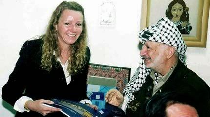 Deputada Vanessa Grazziotin e Yasser Arafat