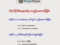 WordPress ကိုယ္ပိုင္ blog တစ္ခုတည္ေဆာက္ျခင္း