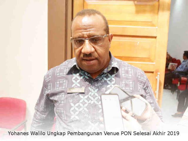 Yohanes Walilo Ungkap Pembangunan Venue PON Selesai Akhir 2019