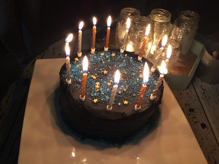 starry night birthday cake