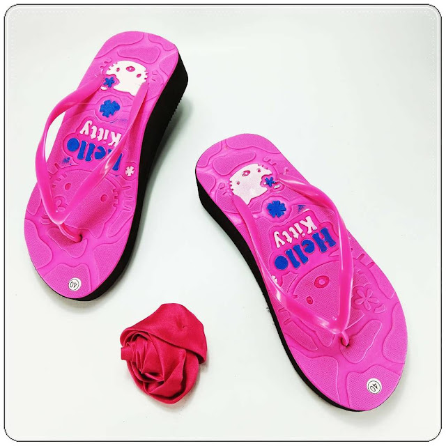 Wedges Sandal Wanita Casual- Sandal AB HK Tebal Wanita- Grosir Sandal Murah