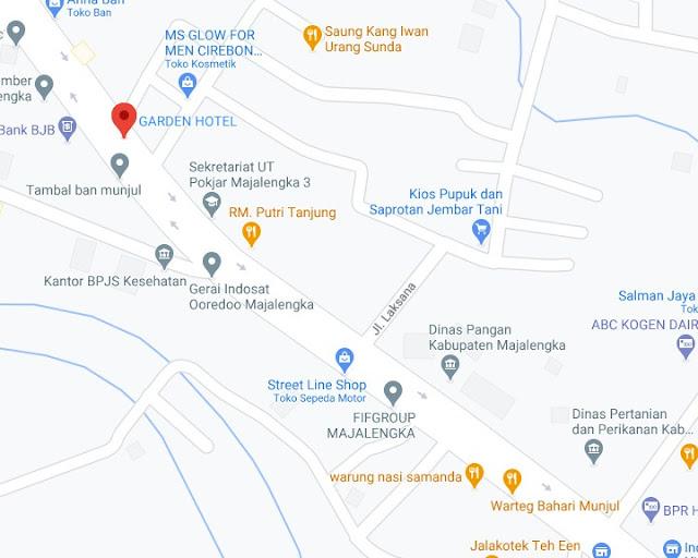 Map Letak Hotel Garden Majalengka