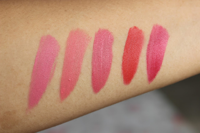 Nyx Soft Matte Lip Cream Swatches Corals With Blues