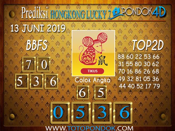 Prediksi Togel HONGKONG LUCKY 7 PONDOK4D 13 JUNI 2019