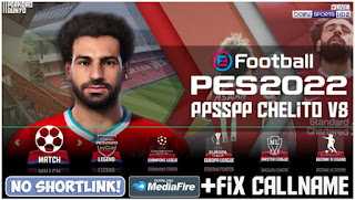 Download PES 2022 PPSSPP Android Special Liverpool Best Graphics HD & English Commentary New Update Callname