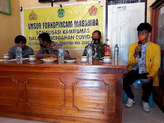 Kapolsek Masamba Bersama KKN Uncok Palopo Sosialisasi Kamtibmas Di Desa Maipi