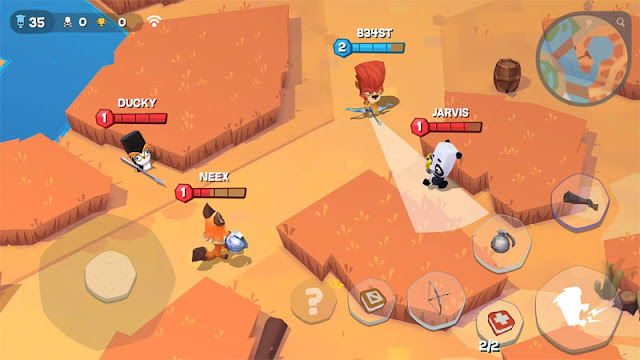 game android terbaik pertempuran multiplayer online menembak alternatif lucu