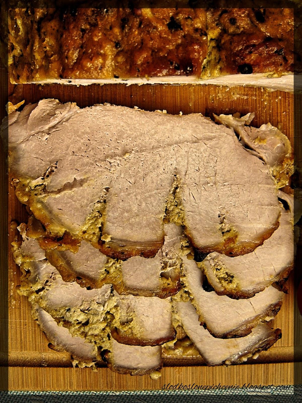 Schab miodowo-musztardowy