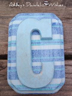monogrammed diy letter c