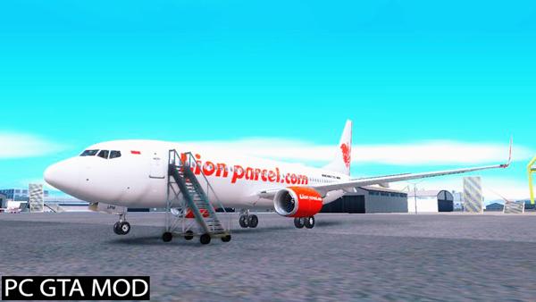 Free Download Lion Air 737NG Mod for GTA San Andreas.