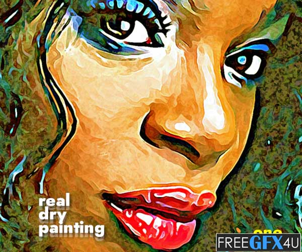 Real Dry Brush Painting