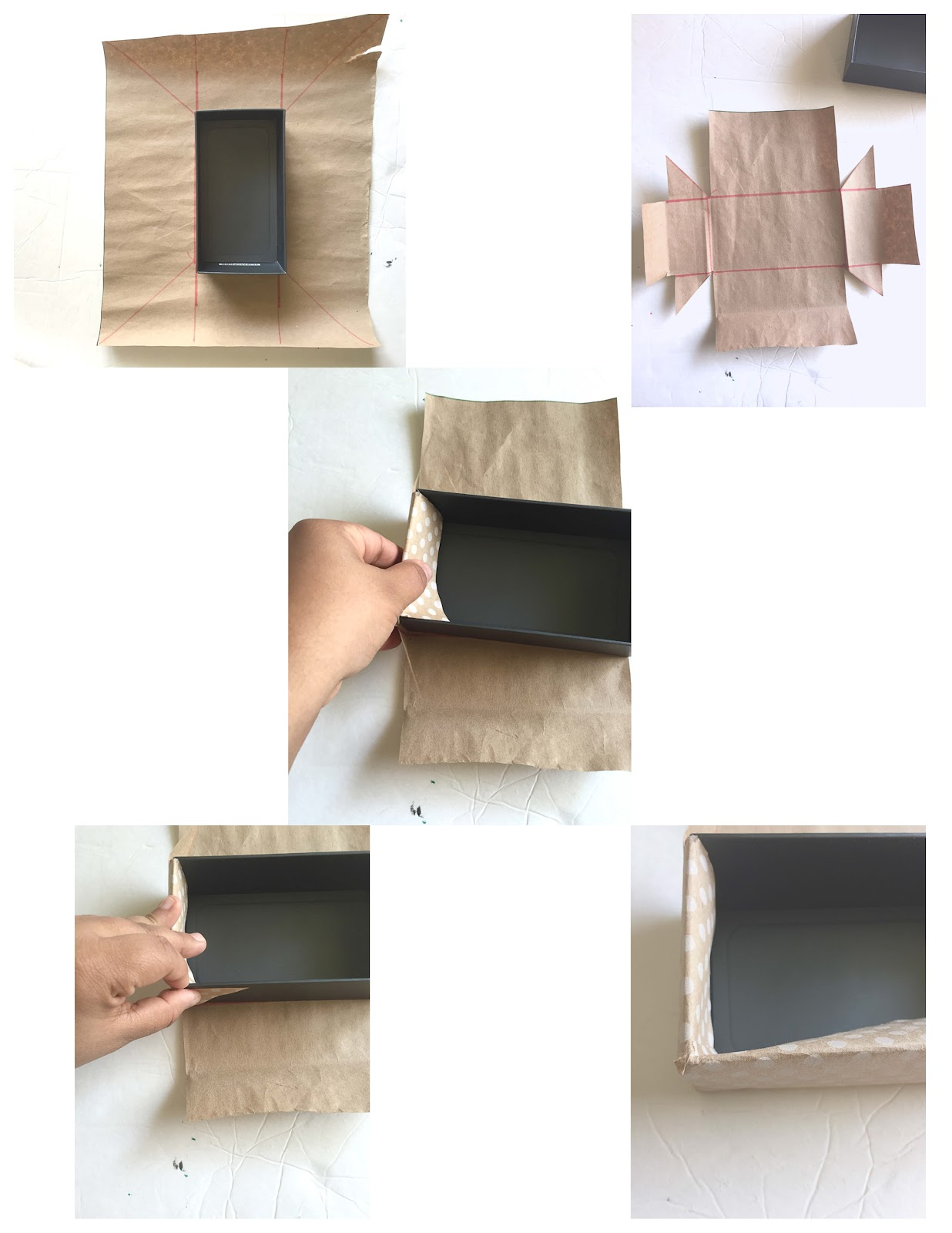 Easiest way to cover boxes with paper or fabric