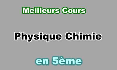 Cours Physique Chimie 5eme en PDF