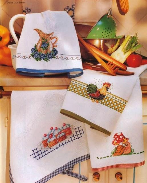 wzory haftów do kuchni