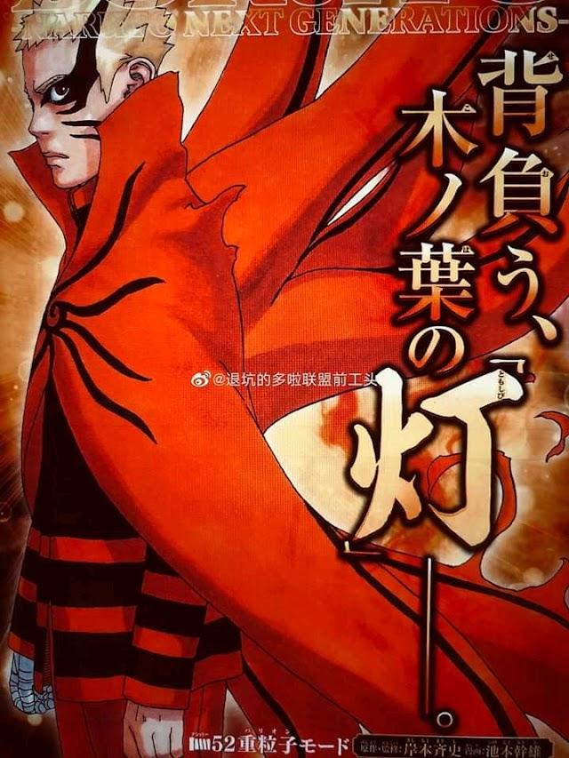 spoiler manga boruto chapter 52, naruto mendesak isshiki dengan mode baru
