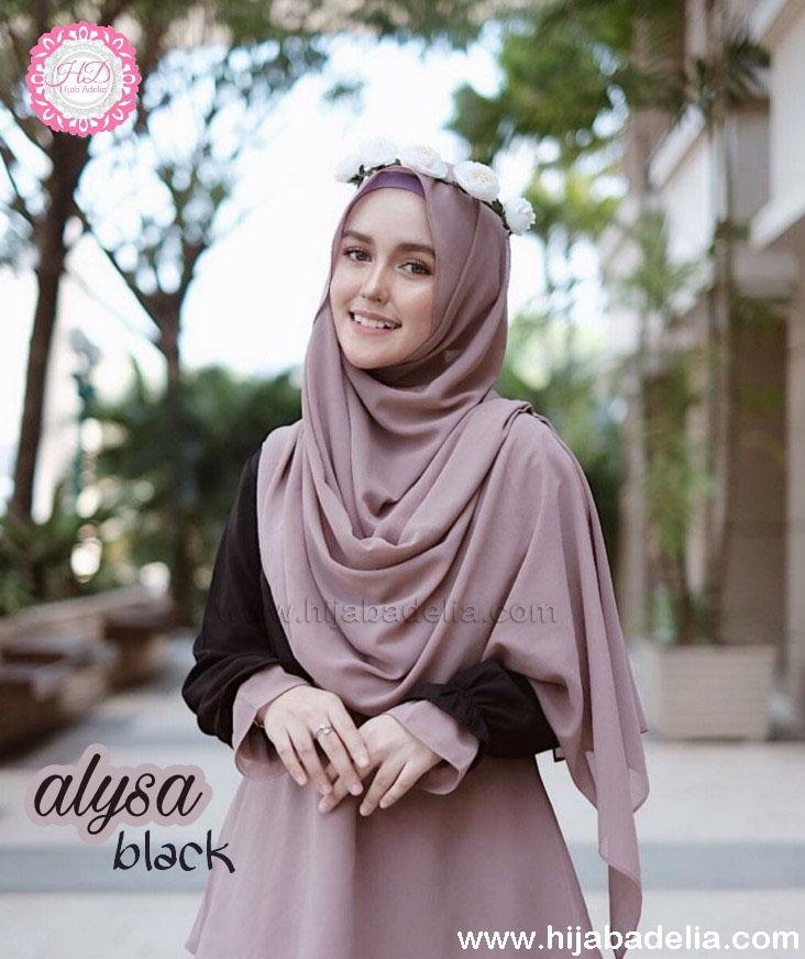 Alysa Black Dress Muslimah Masa Kini