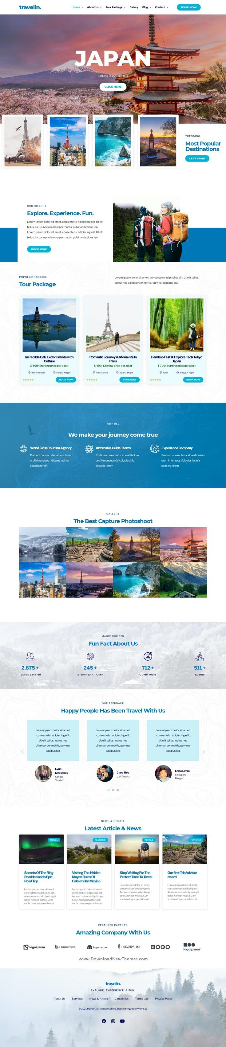 Travel Elementor Template Kit
