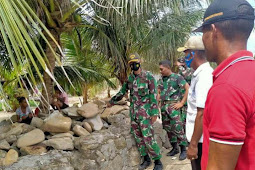 Indra Hirawanto Tinjau Lokasi TMMD Ke-111 Tahun 2021 di Lorwembun dan Alusi Batjasi