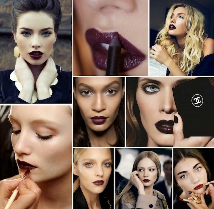 Dark lipstick - beauty