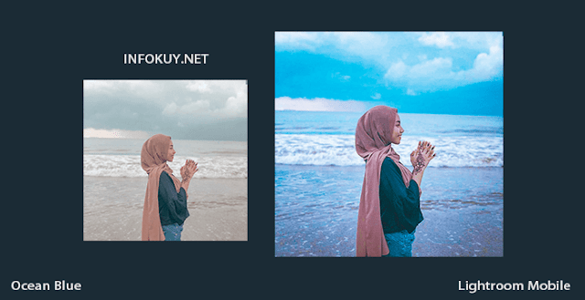 Tutorial Lightroom Ocean Blue