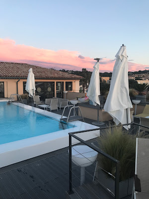 photo from the roof top terrace hotel de paris facing the pool and the lounge