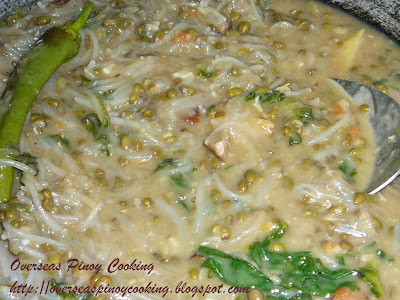Ginisang Munggo with Sotanghon - Cooking Procedure