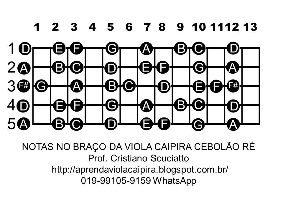 Aprenda Viola Caipira Prof. Cristiano Scuciatto : AS NOTAS