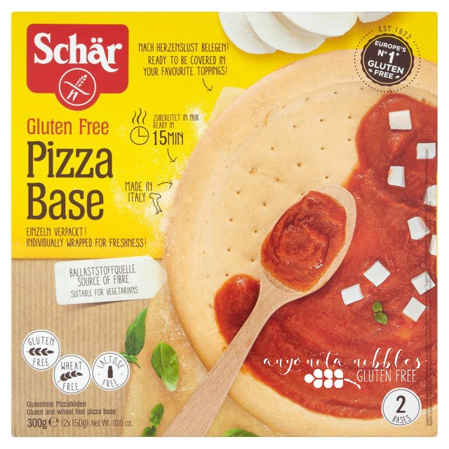 Schar Gluten Free Pizza Base on Anyonita Nibbles