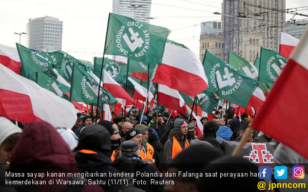 Ngeri, 60 Ribu Rasis Berpesta di Polandia, Serukan Muslim Holocaust