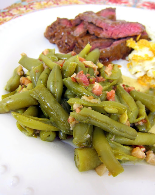 Ranch Style Green Beans Recipe - THE BEST green beans ever! Only 4 ingredients and ready in 20 minutes - you can't beat that! We eat these ALL the time!