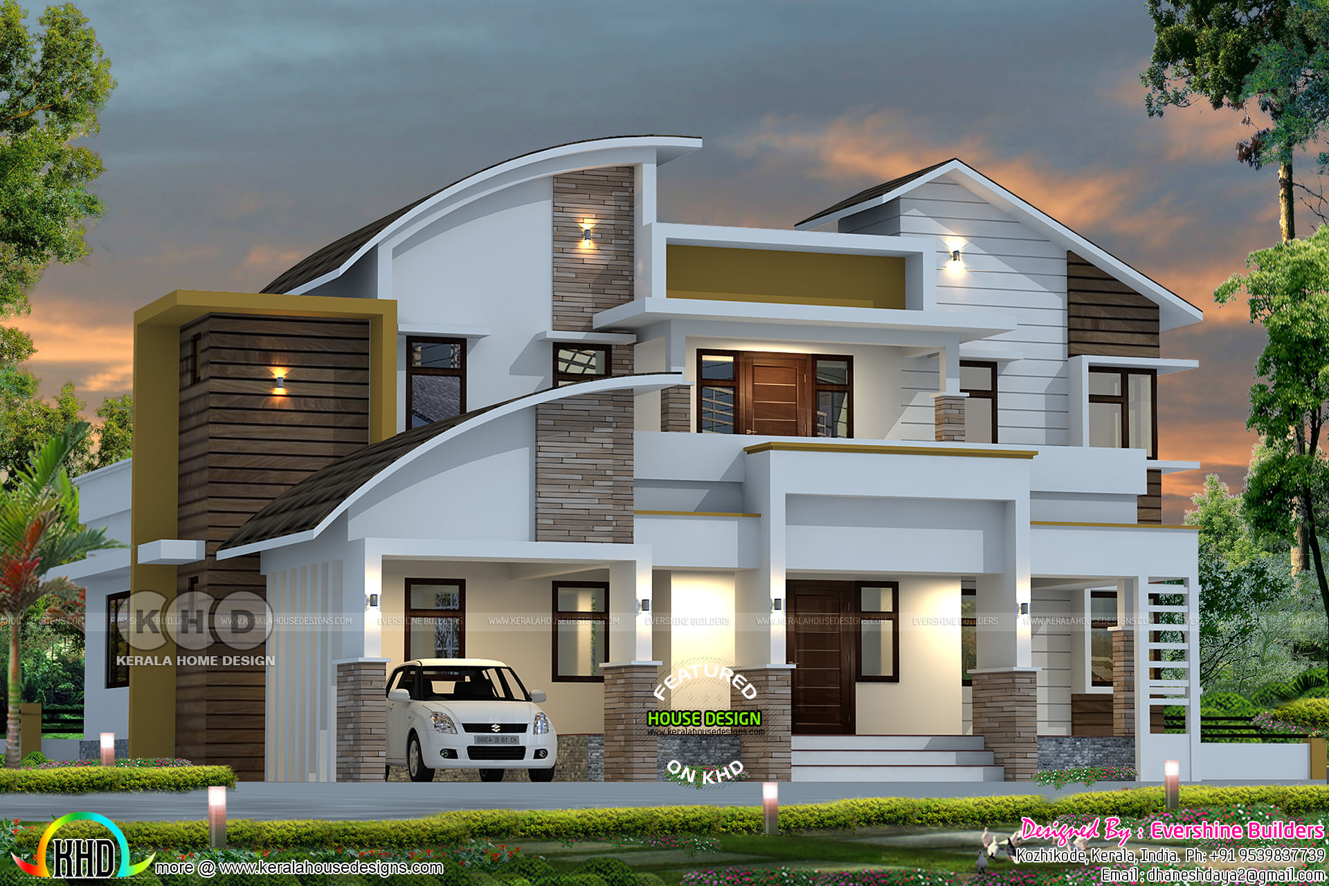 4 bedroom modern contemporary style 2550 sq-ft home plan ...