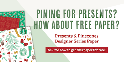 Presents & Pinecones Designer Series Paper, Stampin' Up!, Stamping to Share