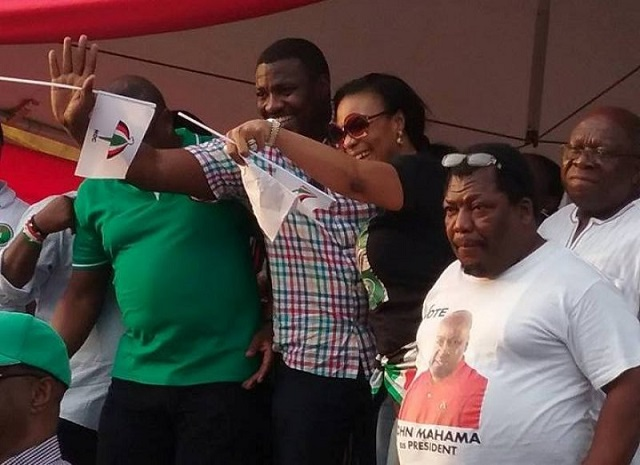 John Dumelo spotted at NDC 'rally'