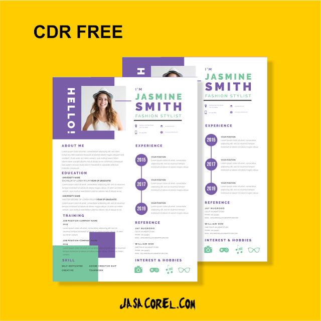 Download CV CDR Kreatif Moderen terbaru