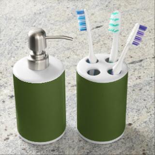 Olive green bath set