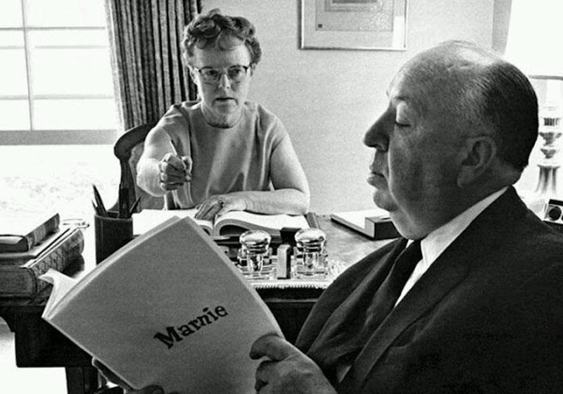 Альфред Хичкок с женой