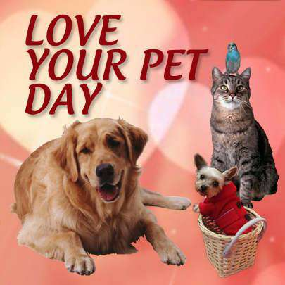 National Love Your Pet Day Wishes Images