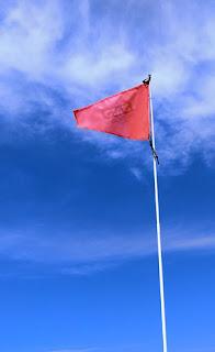 ポータボート 目印となる旗